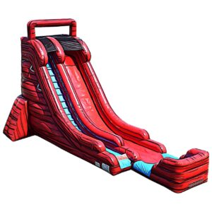 big red water slide inflatable