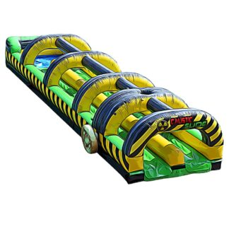 caustic slip and slide inflatable