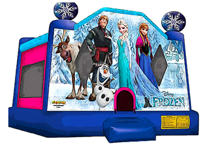 frozen theme bounce house