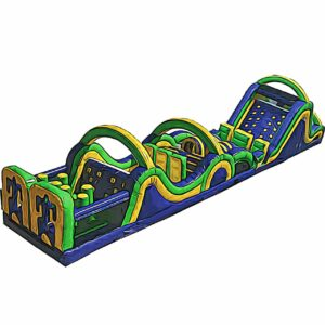radical run 65 feet obstacle course inflatable